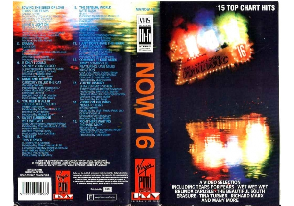 Now That's What I Call Music 16 (1989)on Virgin Music