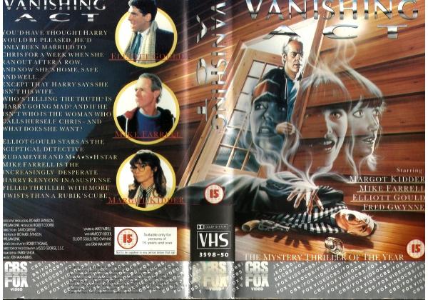 Vanishing Act (1985) on CBS/FOX (United Kingdom Betamax, VHS videotape)